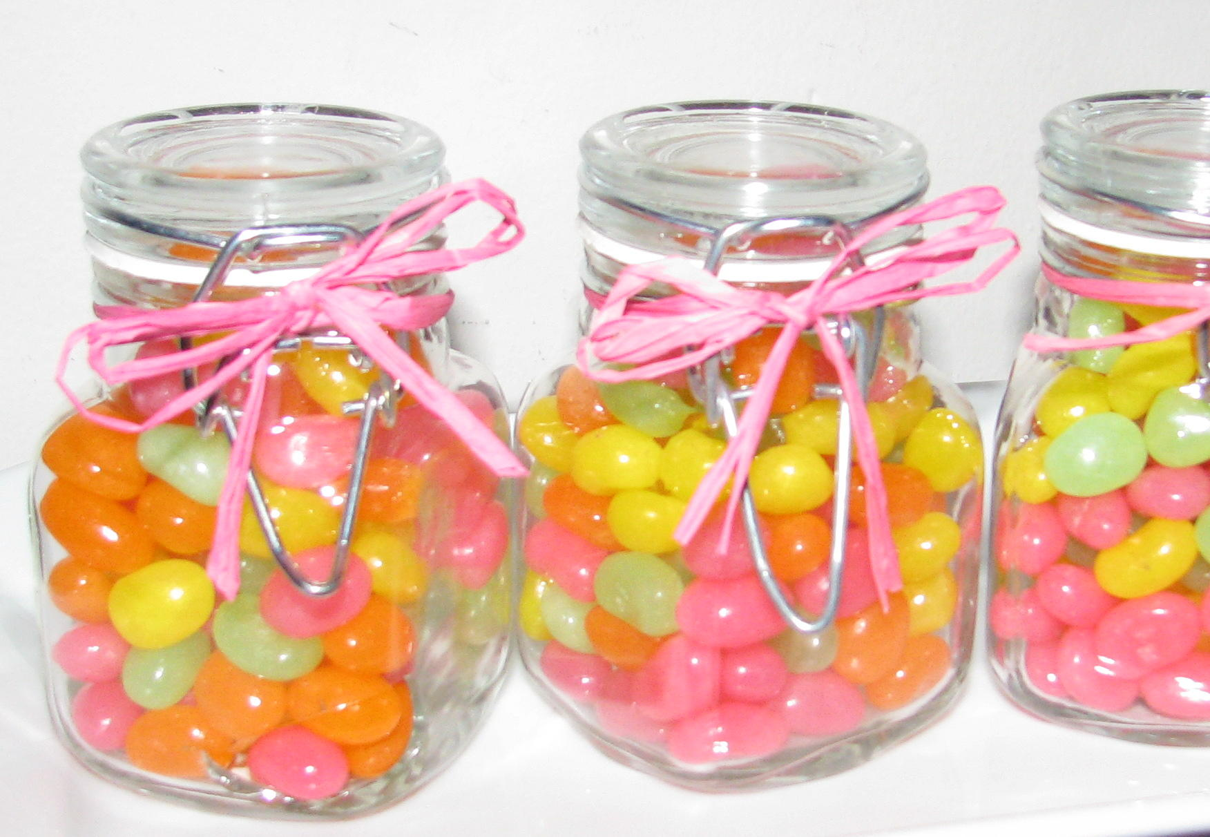 Easter Favors - Mini Jelly Bean Jars - Stylish Spoon