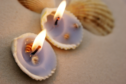 Beach Party - Seashell Candle Holders - Stylish Spoon