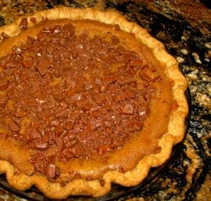 Heath Bar Pumpkin Pie