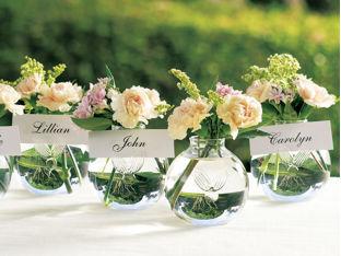 Stylish Spoon & Wedding/ Bridal Shower Place Card Vases - Stylish Spoon