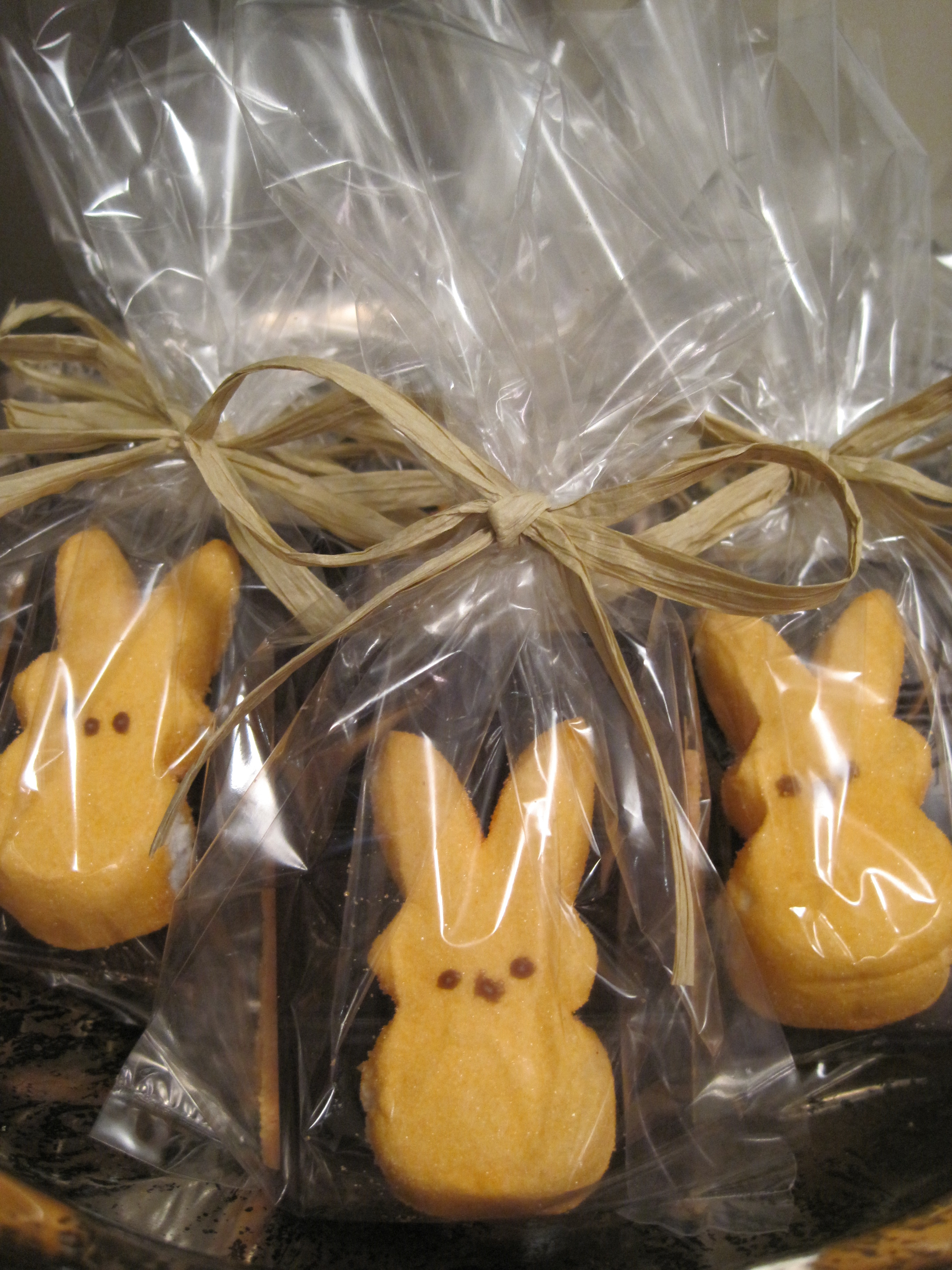 Diy easter party favors peep smores stylish spoon heres an idea for a fun simple and inexpensive party favor peep smores give them as favors at easter or a baby shower particularly one with a duck or negle Gallery