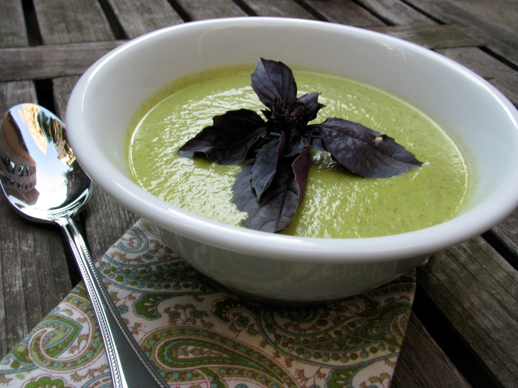 Vegan Chilled Zucchini Basil Soup Recipe