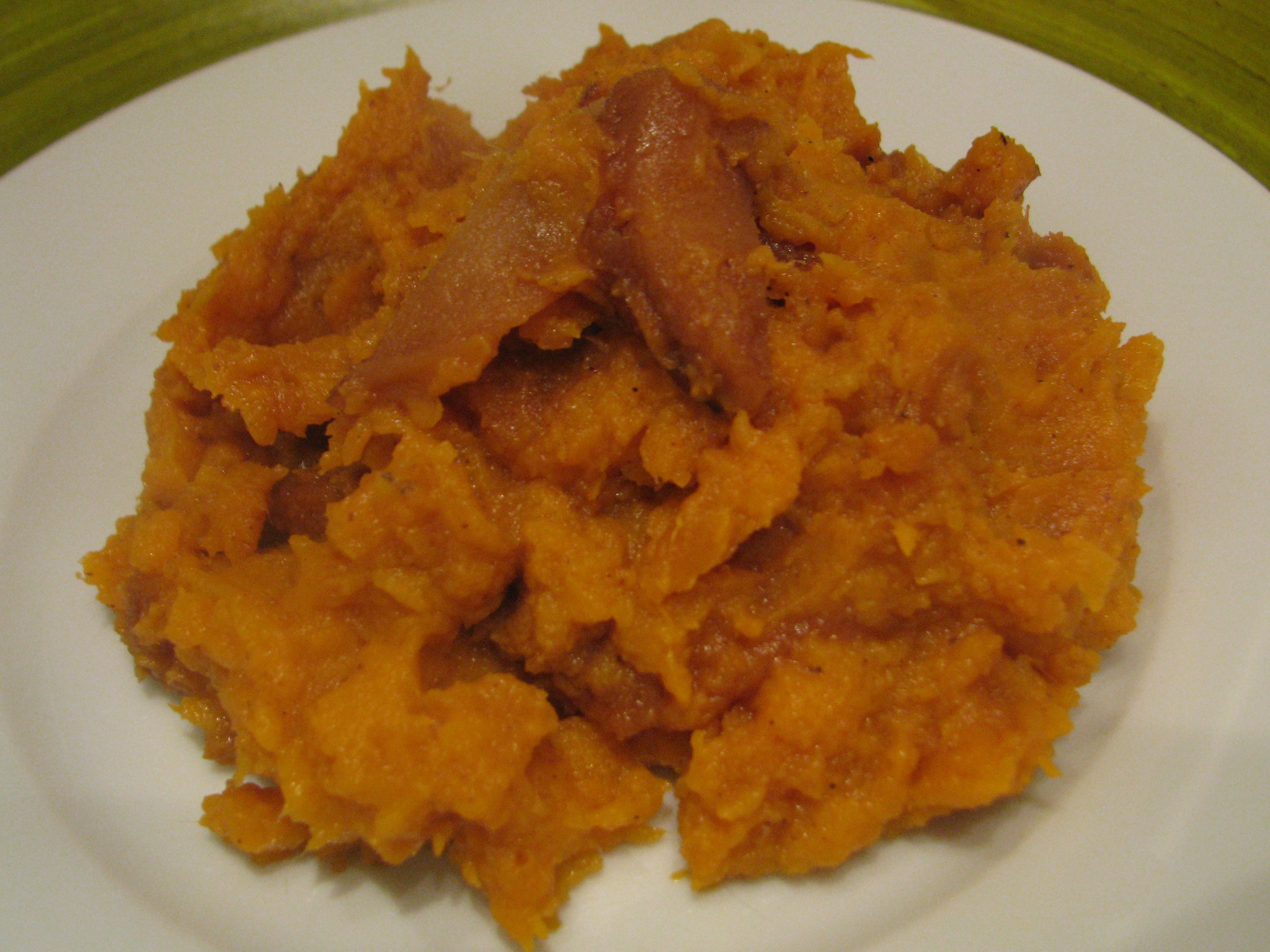 Recipe Smashed Sweet Potatoes With Caramelized Apple Topping