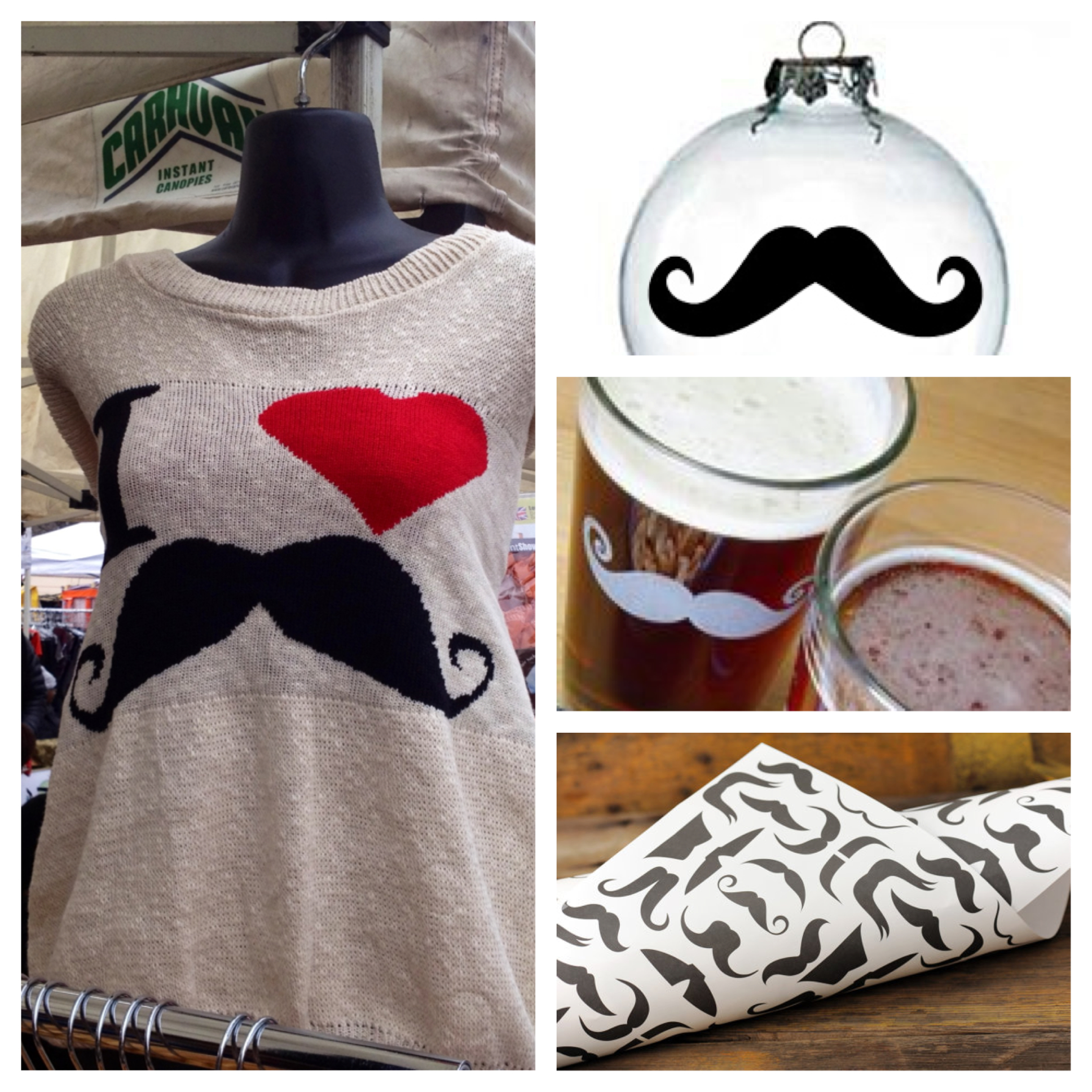 mustache mens gift ideas christmas